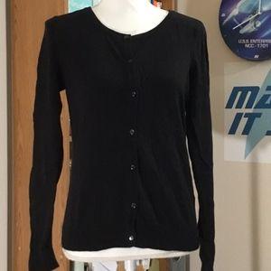 ⏰ BOGO H&M Black Button-Down Cardi; M